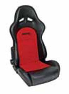 Procar by Scat - ProCar Sportsman Pro Racing Seat - Red Velour Inside - Black Vinyl