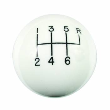 Hurst Shifters - Hurst Classic 6 Speed Knob 3/8-16 Threads - White