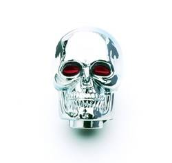 Mr. Gasket - Mr. Gasket Chrome Plated Skull Shifter Knob - All 5/16 in. To 0.5 in. Diameter Shifter Sticks