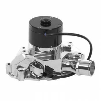 Meziere Enterprises - Meziere SB Ford Billet Electric Water Pump - Hi-Flow - Polished