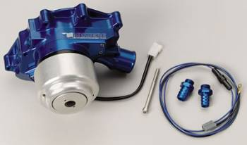 Meziere Enterprises - Meziere SB Ford Hi-Flow Electric Water Pump w/ Idler Assembly - Blue