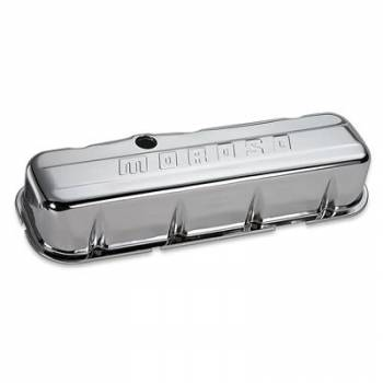 Moroso Performance Products - Moroso Chrome B/E Valve Covers BB Chevy Tall w/o Baffle