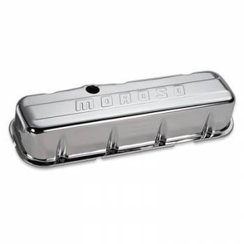 Moroso Performance Products - Moroso Chrome B/E Valve Covers BB Chevy Tall w/ Baffle
