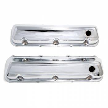 Trans-Dapt Performance - Trans-Dapt Chrome Plated Steel Valve Covers - Stock Height