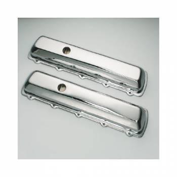 Trans-Dapt Performance - Trans-Dapt Chrome Plated Steel Valve Covers - Short Style