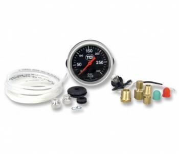 TCI Automotive - TCI Pressure Gauge 2-5/8 Transmission Black Face