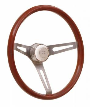 GT Performance - GT Performance GT Retro Light Wood Steering Wheel