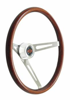 GT Performance - GT Performance GT Retro Dark Wood Steering Wheel
