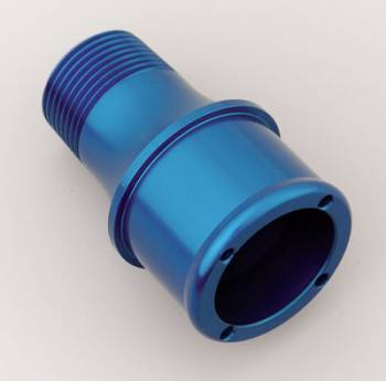 "Meziere Enterprises - Meziere 1.75"" Hose Water Pump Fitting Blue"