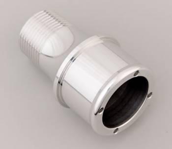 """Meziere Enterprises - Meziere 1.75"""" Hose Water Pump Fitting Polished"""