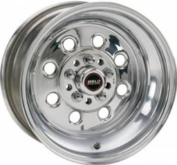 "Weld Racing - Weld Draglite Polished Wheel - 15"" x 10"" - 5 x 4.5""-4.75"" Bolt Circle - 6.5"" Back Spacing - 14.75 lbs"