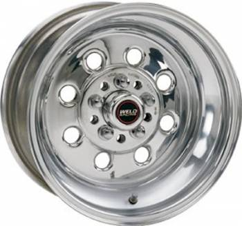 "Weld Racing - Weld Draglite Polished Wheel - 15 X 15"" - 5 x 4.5""-4.75"" Bolt Circle - 7.5"" Back Spacing - 18.15 lbs"