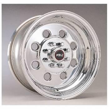 "Weld Racing - Weld Draglite Polished Wheel - 15"" X 8"" - 5 x 4.5""-4.75"" Bolt Circle - 4.5"" Bolt Circle -"" Back Spacing - 12.95 lbs"