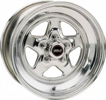 "Weld Racing - Weld Pro Star Polished Wheel - 15"" x 10"" - 5 X 4.75"" Bolt Circle - 4.5"" Bolt Circle -"" Back Spacing - 15 lbs"