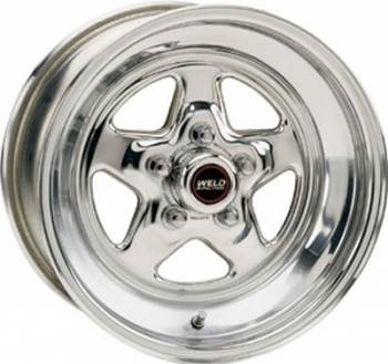 "Weld Racing - Weld Pro Star Polished Wheel - 15"" x 14"" - 5 x 4.5"" Bolt Circle - 4.5"" Bolt Circle -"" Back Spacing - 17.9 lbs"