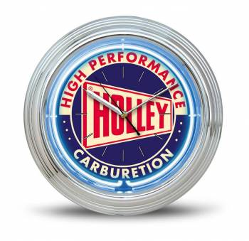 Holley Performance Products - Holley Holley Neon Wall Clock - 14.5 in. Outside Diameter