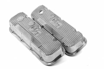 Holley Performance Products - Holley M/T Retro Aluminum Valve Covers BB Chevy