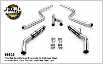 Magnaflow Performance Exhaust - Magnaflow Stainless Steel Cat-Back Performance Exhaust System - 4 in. x 9 in. x 14 in. Dual Muffler