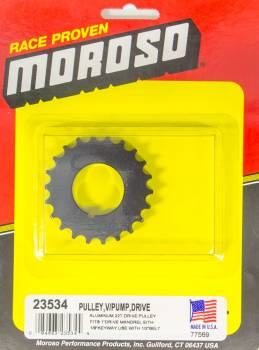 Moroso Performance Products - Moroso Vacuum Pump Drive Pulley 22T- Radius Tooth
