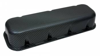 Moroso Performance Products - Moroso BB Chevy Cast Aluminum Fiber Design Valve Covers - Gray/Black