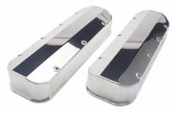 Hamburger's Performance Products - Hamburger's BB Chevy Fabricated Aluminum Valve Covers Polished