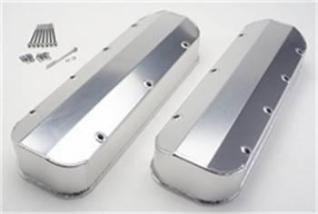 Hamburger's Performance Products - Hamburgers Fabricated Valve Cover Set - Brushed Aluminum