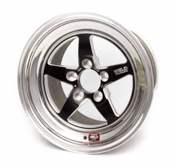 "Weld Racing - Weld R-TS Forged Aluminum Black Anodized Wheel - 15"" x 4.075"" - 5 x 4.75"" Bolt Circle - 1.5"" Back Spacing - 11.6 lbs"
