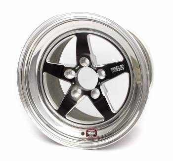 "Weld Racing - Weld R-TS Forged Aluminum Black Anodized Wheel - 15"" x 10.275"" - 5 x 4.5"" Bolt Circle - 6.5"" Back Spacing - 16.2 lbs"