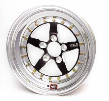 "Weld Racing - Weld Weldstar RT Black Anodized Wheel - 15"" x 4"" - 5 x 4.75"" Bolt Circle - 1.5"" Back Spacing - 11.6 lbs"