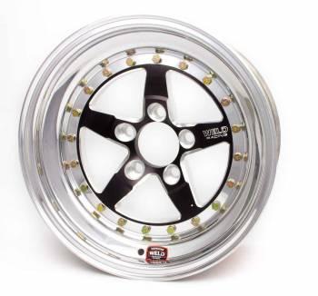 "Weld Racing - Weld Weldstar RT Black Anodized Wheel - 15"" x 4"" - 5 x 4.75"" Bolt Circle - 1.5"" Back Spacing - 11.6 lbs"
