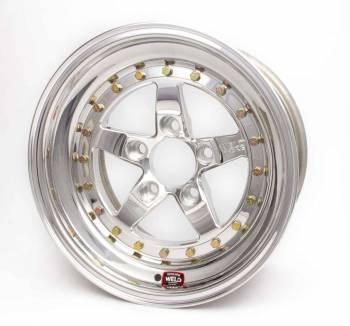 "Weld Racing - Weld Weldstar RT Polished Wheel - 15"" x 10"" - 5 x 4.5"" Bolt Circle - 7.5"" Back Spacing - 16.3 lbs"
