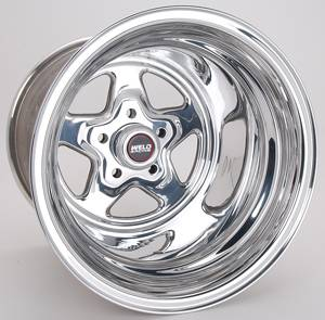 "Weld Racing - Weld Pro Star Polished Wheel - 15 X 15"" - 5 x 4.5"" Bolt Circle - 4.5"" Bolt Circle -"" Back Spacing - 18.4 lbs"