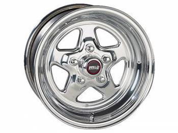 "Weld Racing - Weld Pro Star Polished Wheel - 15 X 15"" - 5 X 4.75"" Bolt Circle - 4.5' Back Spacing - 18.4 lbs"