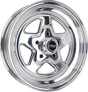 "Weld Racing - Weld Pro Star Polished Wheel - 15"" x 3.5"" - 5 x 4.5"" Bolt Circle - 1.375"" Back Spacing - 10.5 lbs"