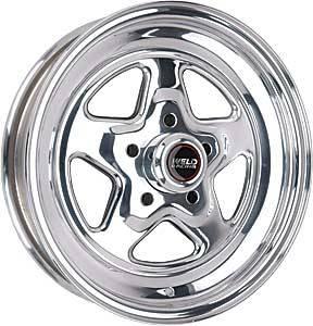 "Weld Racing - Weld Pro Star Polished Wheel - 15"" x 3.5"" - 5 x 4.5"" Bolt Circle - 1.375"" Back Spacing - 10.5 lbs"