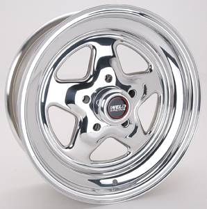 "Weld Racing - Weld Pro Star Polished Wheel - 15"" x 6"" - 5 x 4.5"" Bolt Circle - 3.5"" Back Spacing - 12.05 lbs"
