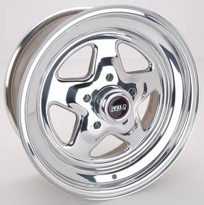 "Weld Racing - Weld Pro Star Polished Wheel - 15"" x 7"" - 5 x 4.5"" Bolt Circle - 4.5"" Bolt Circle -"" Back Spacing - 13 lbs"