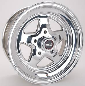 "Weld Racing - Weld Pro Star Polished Wheel - 15"" x 7"" - 5 X 4.75"" Bolt Circle - 4.5"" Bolt Circle -"" Back Spacing - 13 lbs"