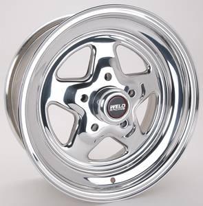 "Weld Racing - Weld Pro Star Polished Wheel - 15"" x 7"" - 5 X 4.75"" Bolt Circle - 4.5"" Bolt Circle -"" Back Spacing - 13 lbs"
