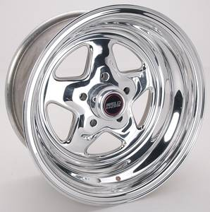 "Weld Racing - Weld Pro Star Polished Wheel - 15"" x 8"" - 5 x 4.5"" Bolt Circle - 3.5"" Back Spacing - 13.45 lbs"