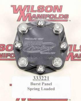 Wilson Manifolds - Nitrous Pro Flow Manifolds Pressure Relief Valve