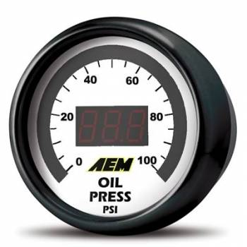 AEM Electronics - AEM Oil/Fuel Pressure Digitl Gauge 0-100 psi
