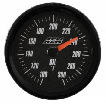 AEM Electronics - AEM Oil/Trans/Water Temp Analog Gauge 100-300f