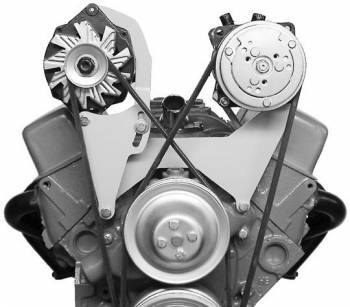Alan Grove Components - Alan Grove Components Alternator Bracket - SB Chevy - Short Water Pump - RH - High Mount
