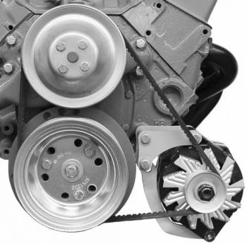 Alan Grove Components - Alan Grove Components Alternator Bracket - SB Chevy - Short Water Pump - LH - Low Mount
