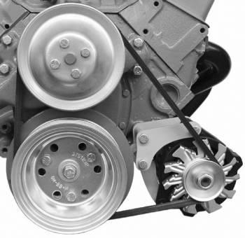 Alan Grove Components - Alan Grove Alternator Bracket - For Small GM Alternator - SB Chevy - Short WP - LH - Low Mount