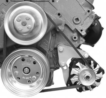 Alan Grove Components - Alan Grove Components Alternator Bracket - For Small GM Alternator - BB Chevy - Short Water Pump - LH - Low Mount