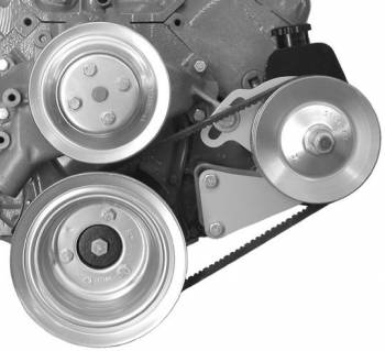 Alan Grove Components - Alan Grove Components Power Steering Bracket for Canister Pump - BB Chevy - Long Water Pump