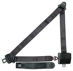 Allstar Performance - Allstar Performance Seatbelt 3-Point Retractable Black