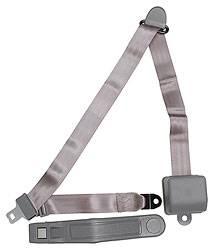 Allstar Performance - Allstar Performance Seatbelt 3-Point Retractable Gray